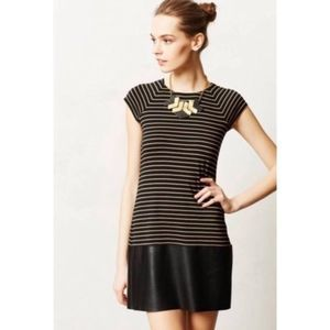Bailey 44 Striped Faux Leather Dress